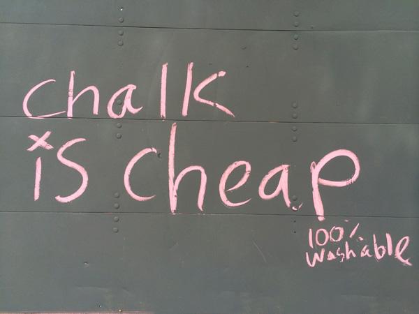 washable graffiti, temporary graffiti, chalk graffiti